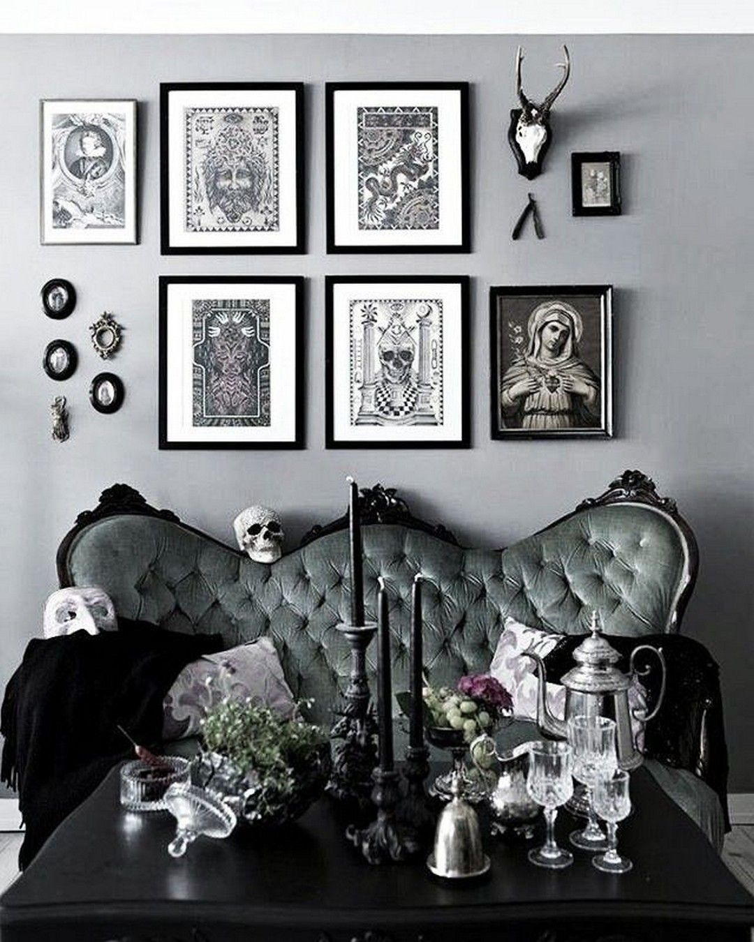 Pin By Drea On Living Room Gothic Living Rooms Gothic Home