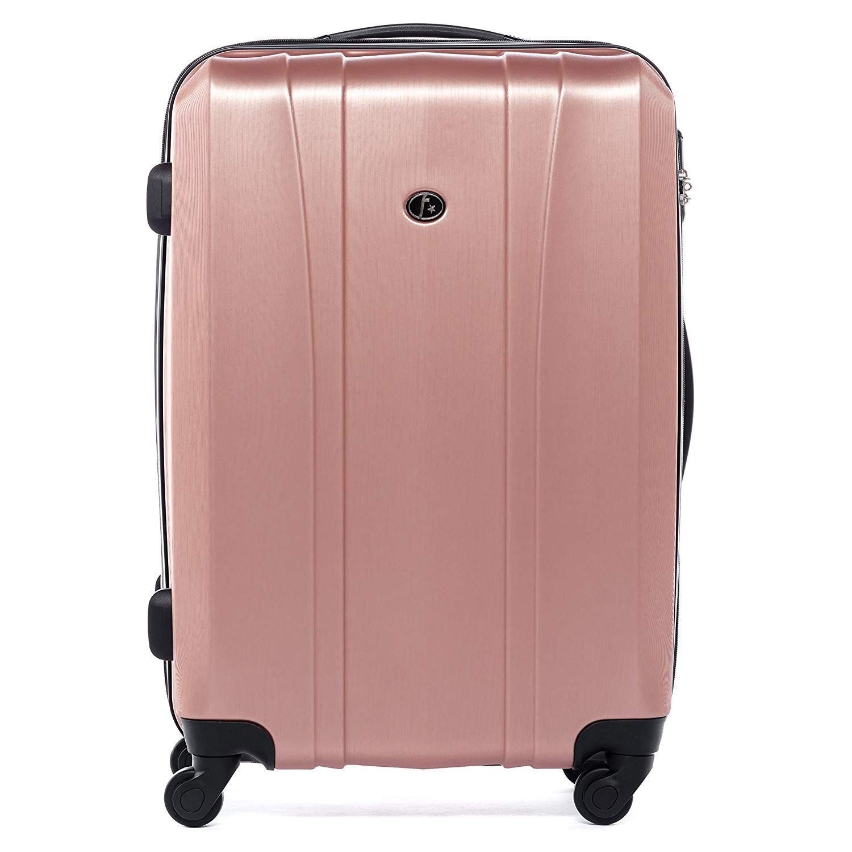 Ferge Bagage Cabine 4 Roues Dijon Valise De Cabine Rigide Leger Bagage A Main Trolley 4 Roulettes 360 Degres Pink Bagage A Main Valise Cabine Bagage