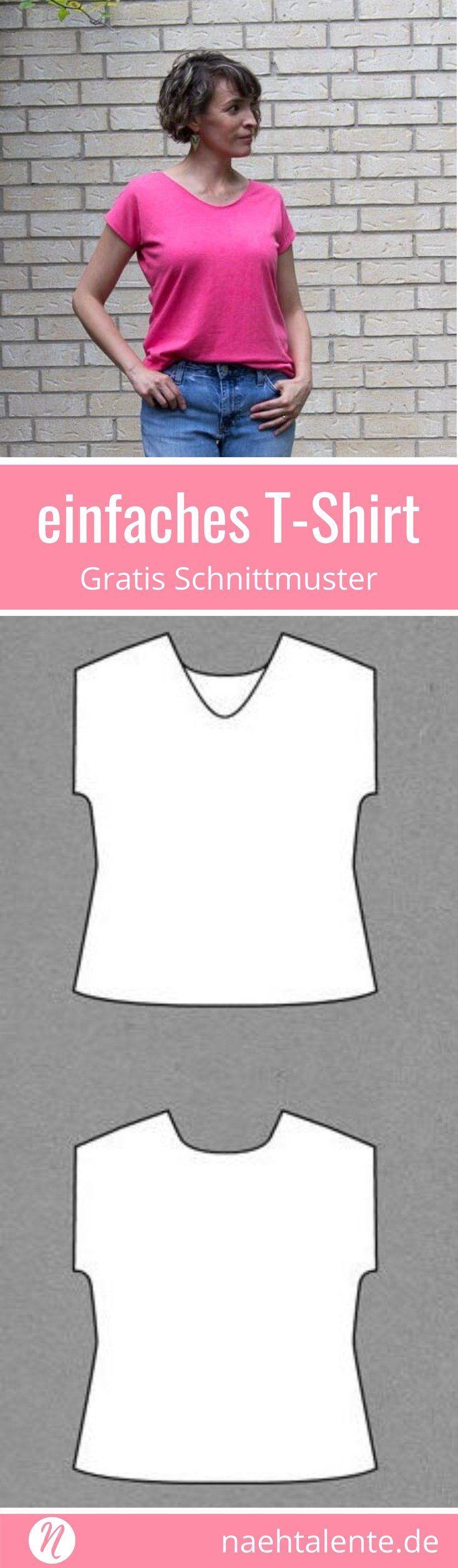 Damen-T-Shirt mit V-Ausschnitt | Freebook Gr. XXS - 3XL | Nähtalente