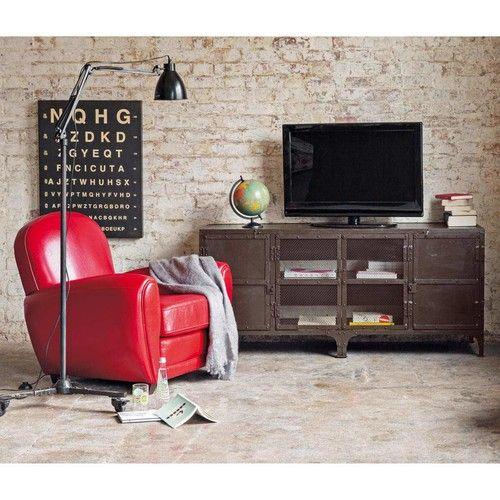 Metalen tv-meubel B 155 cm eetkamer/woonkamer Pinterest Metals