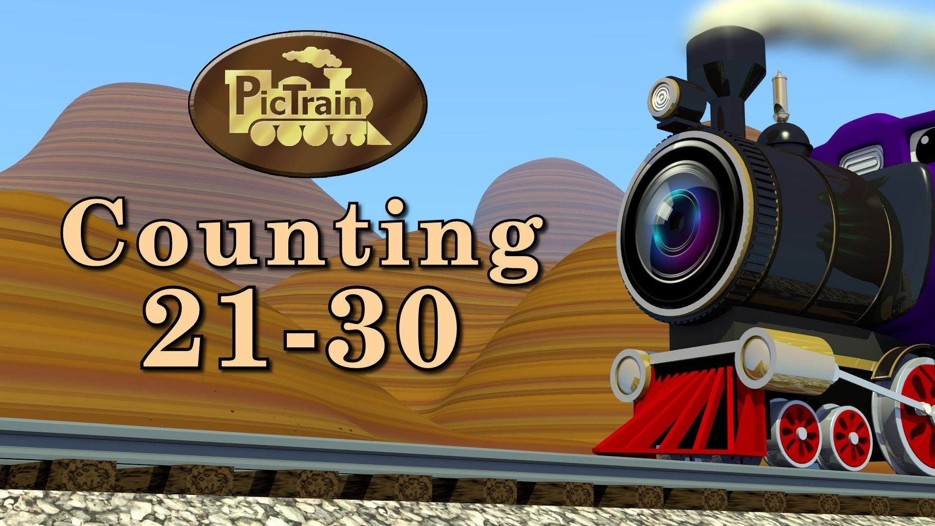 Counting 21 30 Learn Numbers 21 30 On The Pictrain