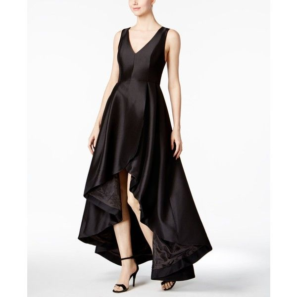 Calvin Klein High Low A Line Gown 299 Liked On Polyvore