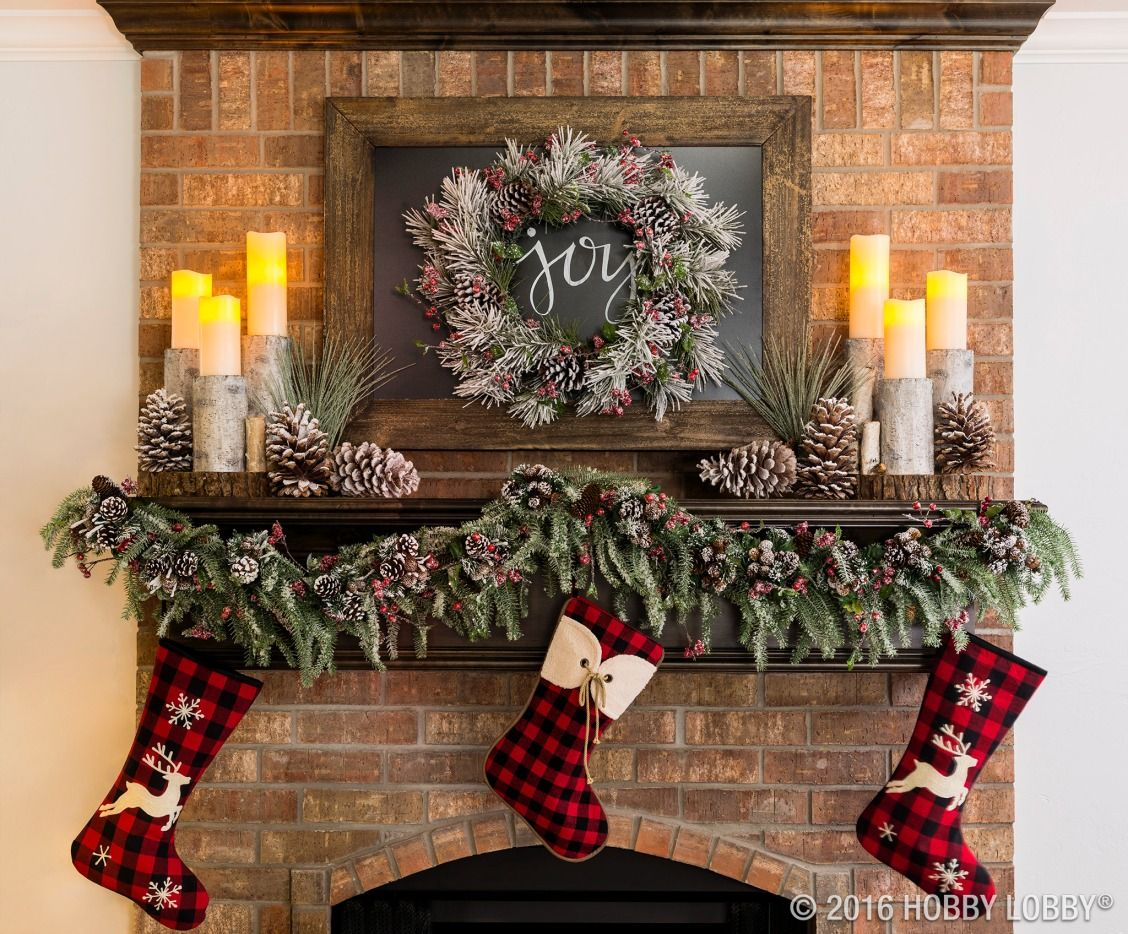 Rustic cabin christmas decorations - Give Your Christmas Decor Cozy Cabin Charm With This Warm And Rustic Collection