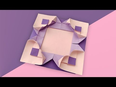 Make Your Own Gift Origami Modular Frame Youtube
