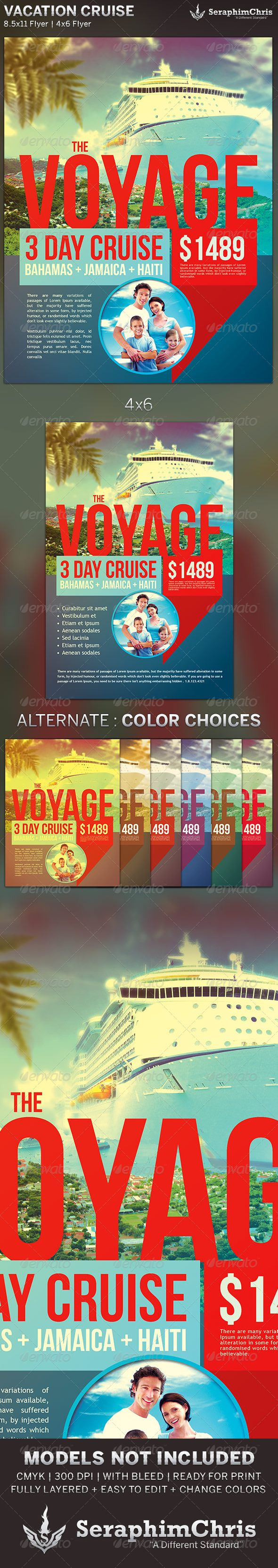 vacation cruise travel flyer template is designed for companies and corporate parties that need a unique and modern look this premium flyer design is