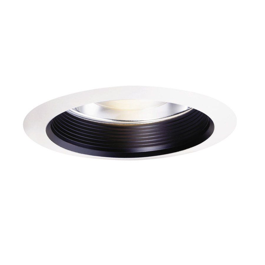 Recessed Lighting Trim Rings Halo Halo Black With White Trim Ring 6In Baffle Recessed Lighting