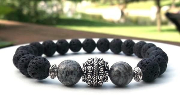 gemstone large bluestoneriver volcano black bracelets beaded collections rock for bracelet mens stoneriverjewelry bold men