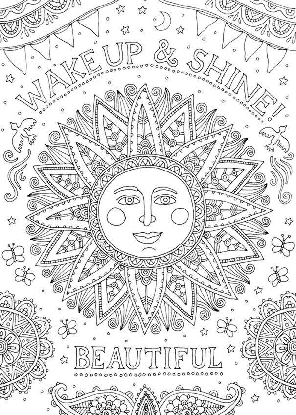 Pin de Adinda Leenders en Kleurplaten | Pinterest | Dibujo, Mandalas ...