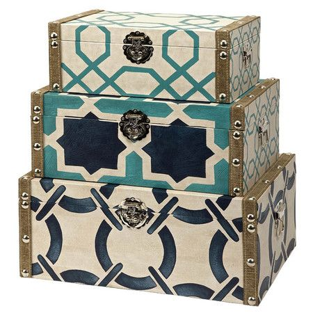 Set of 3 nesting storage boxes with printed motifs. Product Small medium and large storage box Construc.  sc 1 st  Pinterest & Set of 3 nesting storage boxes with printed motifs. Product: Small ...