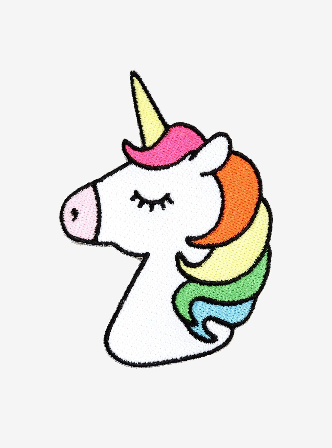 Rainbow Unicorn Patch Dibujos De Unicornios Unicornio Bordado