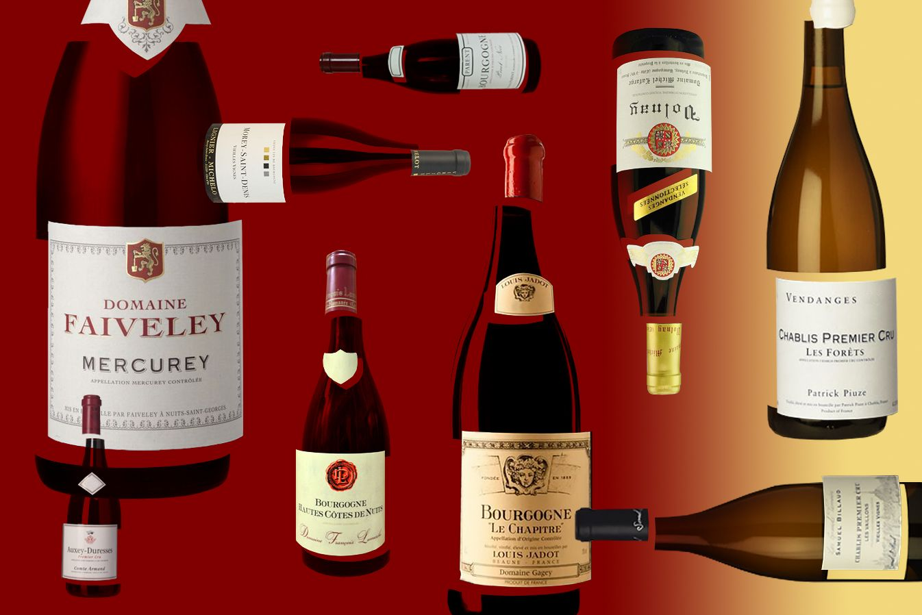 Supreme Capital Group Burgundy Wine Bottle Wines