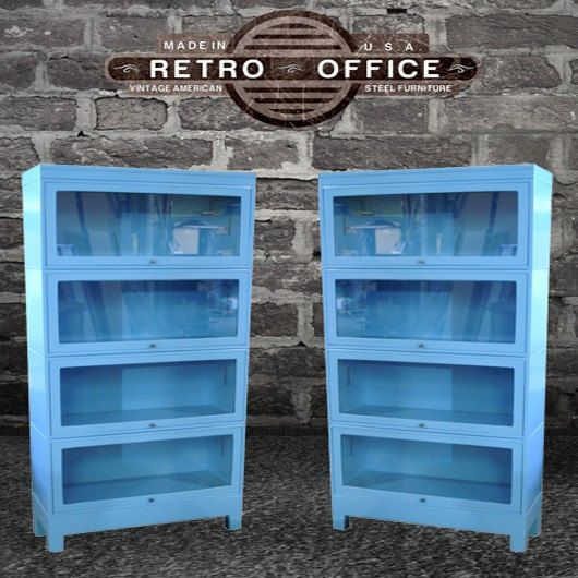 vintage steel lawyers bookcase fully restored barrister bookcase via etsy