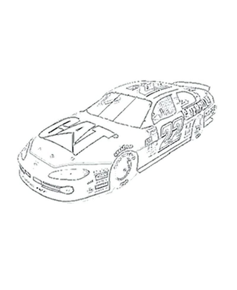 Coloring Page Nascar Printable The National Association For Stock