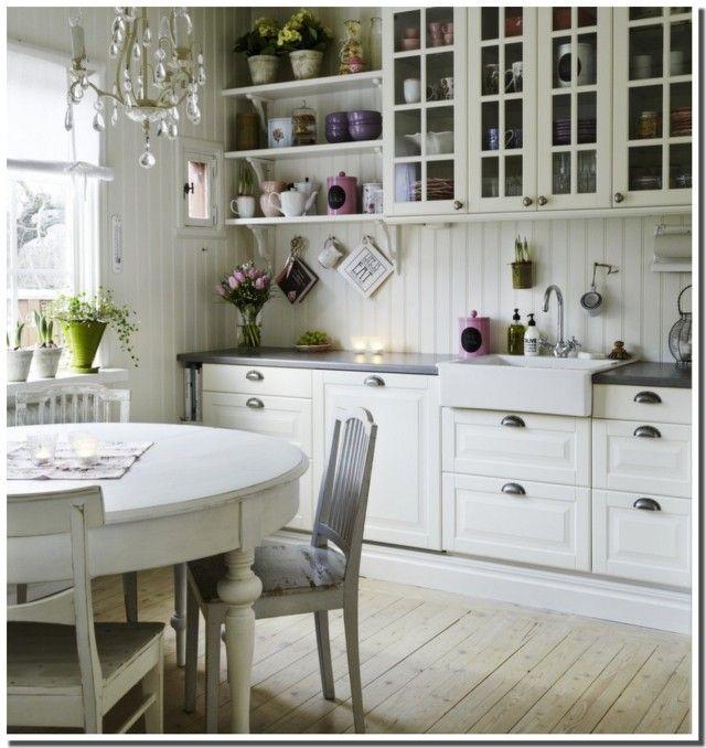 Idées Pour Une Belle Cuisine En Blanc De Vos Rêves Rustique - Cuisine rustique blanche