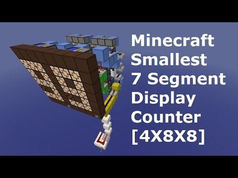 Smallest 7 Segment Display Counter Tutorial 4x8x8 300 000 Views