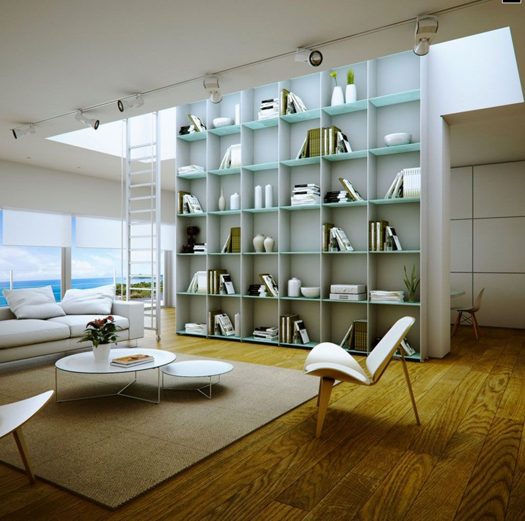 Home Interior, [Home Library Designs]: Home Library Interior Design   Great  Room