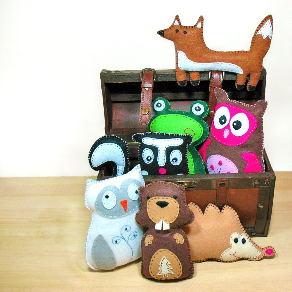 Stuffed Animal Patterns, Felt Animal Patterns, Woodland Animals ...