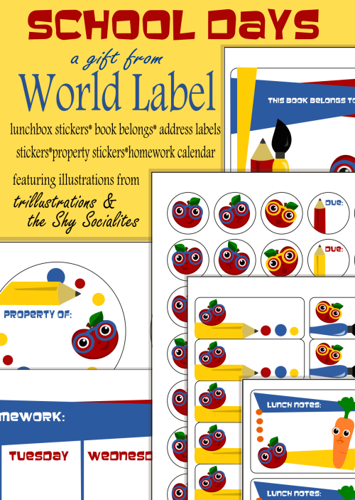 Free Printable Labels For School Home