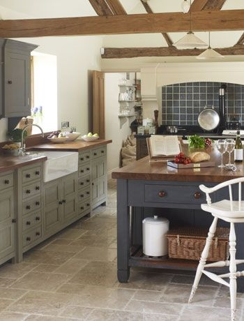 Large Kitchen Island. Barn Conversion ...