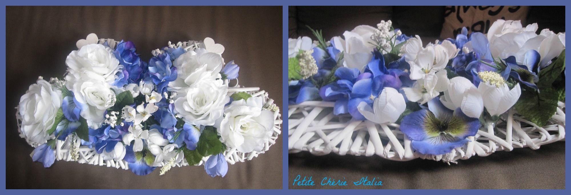 Centrotavola ghirlanda fiori artificiali centrotavola e - Centrotavola natalizi con fiori finti ...