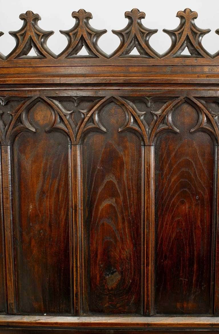 19th C. Gothic Revival Full Size Walnut Bed in 2020
