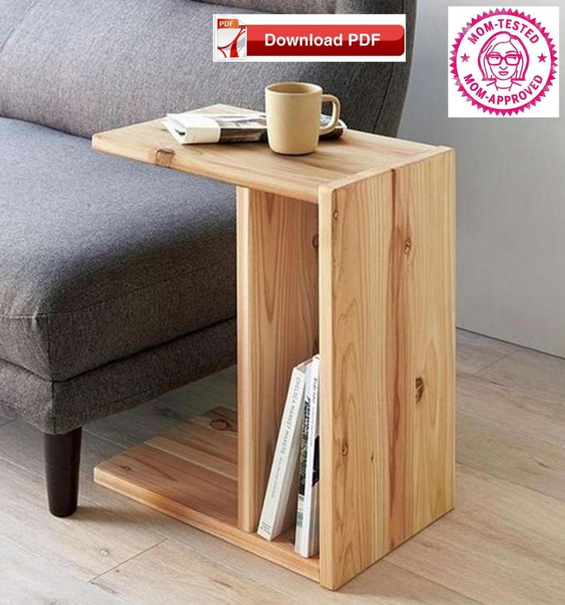 Photo of TV Tray Stand Plan/Book Stand Plan/End Table plan/Sofa Arm stand plan/sofa stand plan/wood tray plan/tv stand plan/tv tray stand/pdf pattern