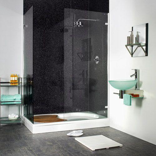 Black galaxy shower boards for Bathroom wet wall designs