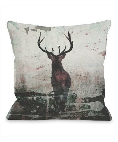 Loving this Red Stag Throw Pillow on #zulily! #zulilyfinds