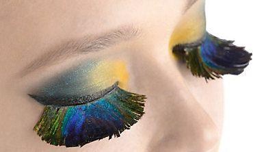 544d1b1b6a5 Peacock Feather False Eyelashes | Halloween & Octoberfest | Peacock ...