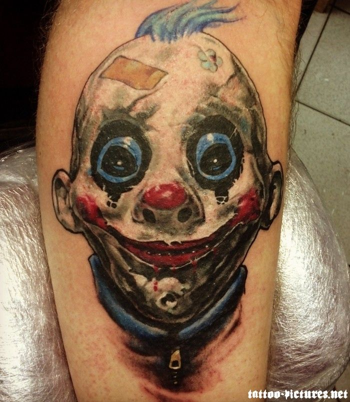 Happy little clown isn 39 t he the cutest tattoo for Clown tattoos for men