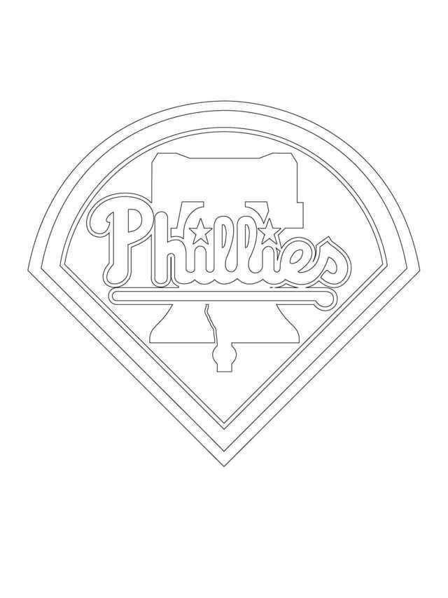 Mlb Coloring Sheets Philadelphia Phillies Philadelphia Phillies Logo Baseball Coloring Pages Sports Coloring Pages