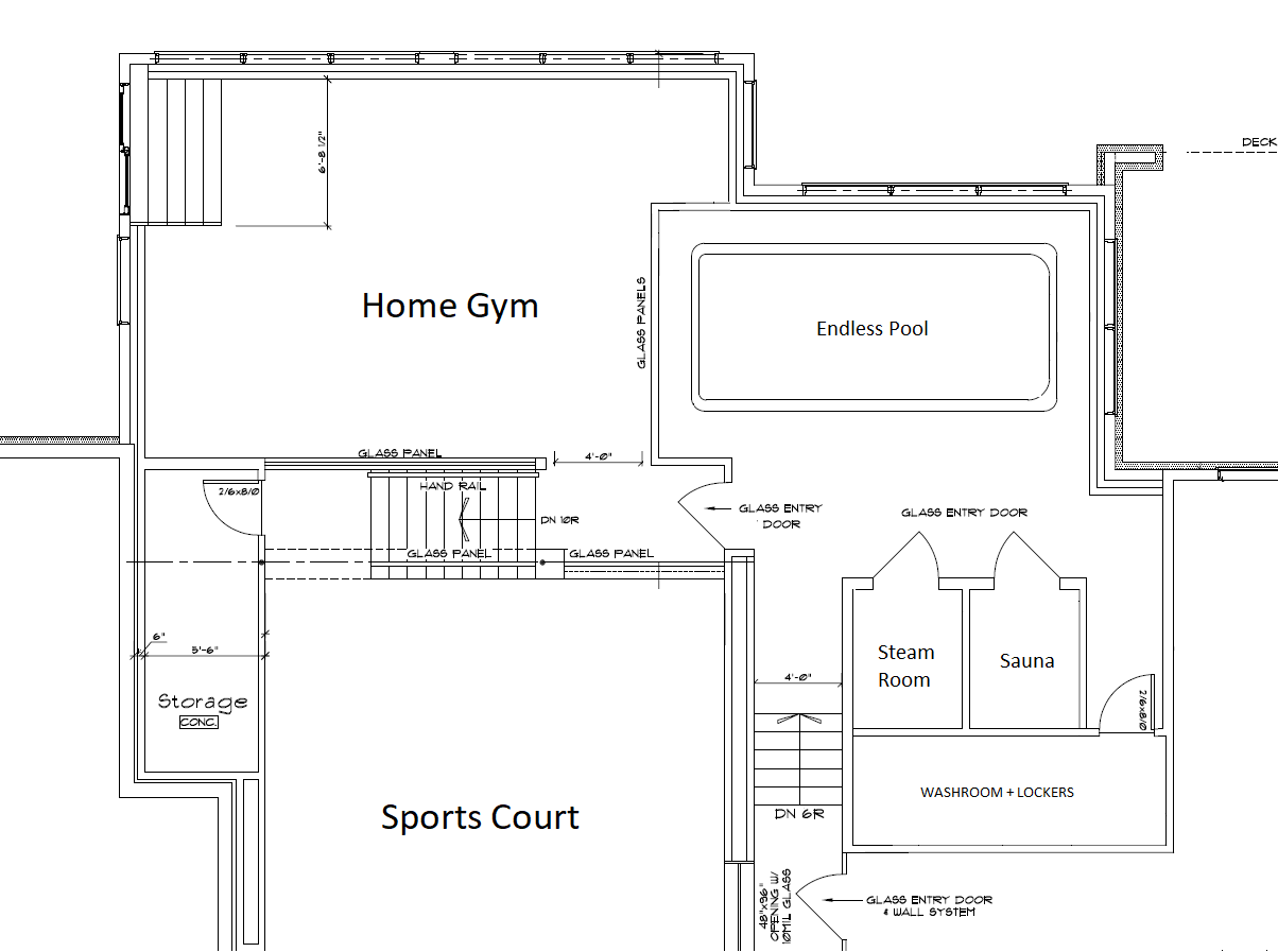 Oc What Do You Guys Think Of This Spa Pool Gym Sports Court Layout In This Home Floor Plan 1200x900 House Floor Plans Floor Plans Floor Plan Design