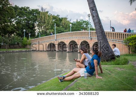 Bangkok, Thailand Nov 22, 2015 Unidentified people at Chatuchak Park, the public park in Chatuchak district, It is also the name of the Bangkok Metro station that lies under the park. - stock photo