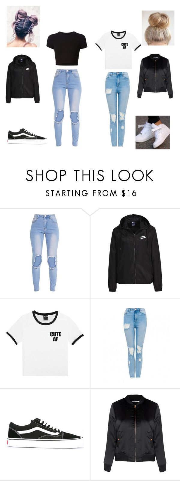 """J&K #1"" by kayltjevds05 on Polyvore featuring mode, Getting Back To Square One, NIKE, Vans en Glamorous"
