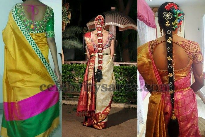 Work Blouses with Silk Sarees | Saree Blouse Patterns