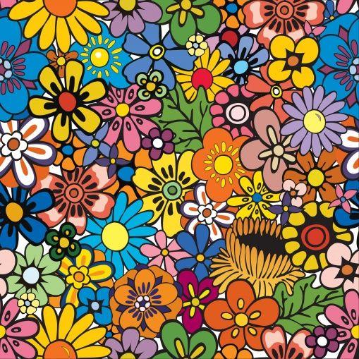 Vivid Flowers - Valokuvatapetit - Photowall
