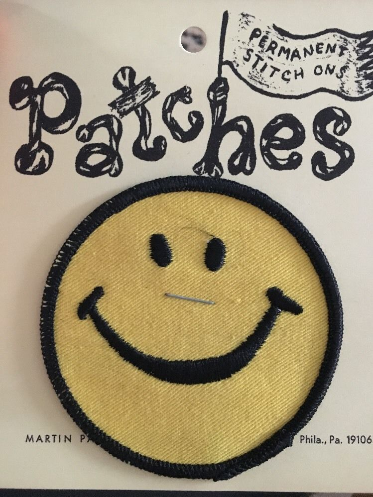 I Smile Because I Don/'t Know What Is Going On Sew or Iron on Patch Biker Patch