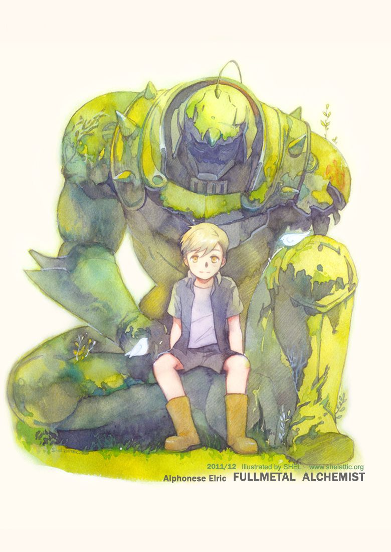 Alphonese Elric - Fullmetal Alchemist by shel #illustration #manga #anime