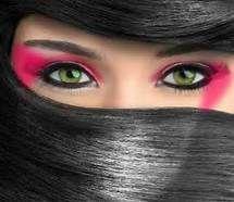 Ninja costume eye makeup