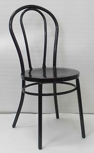 Retro Cafe Dining Chairs Racing Chair Stand Replica Thonet Metal Bentwood Restaurant Black Ebay