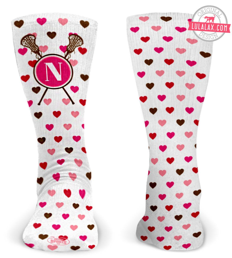 c4f1d52b0 Add your monogram to these lacrosse hearts socks!