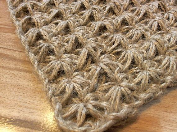 Zerbino Crochet juta corda porta coperta unica di MagicByCrochet ...