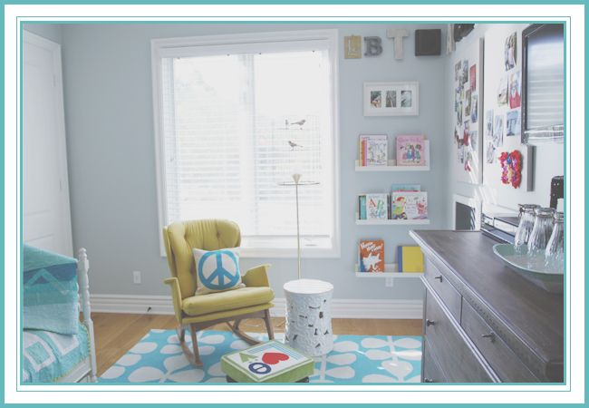 Fun, airy, cool kids room. From House of Turquoise: Guest Blogger: Hollie from I Lived On Wisteria Lane