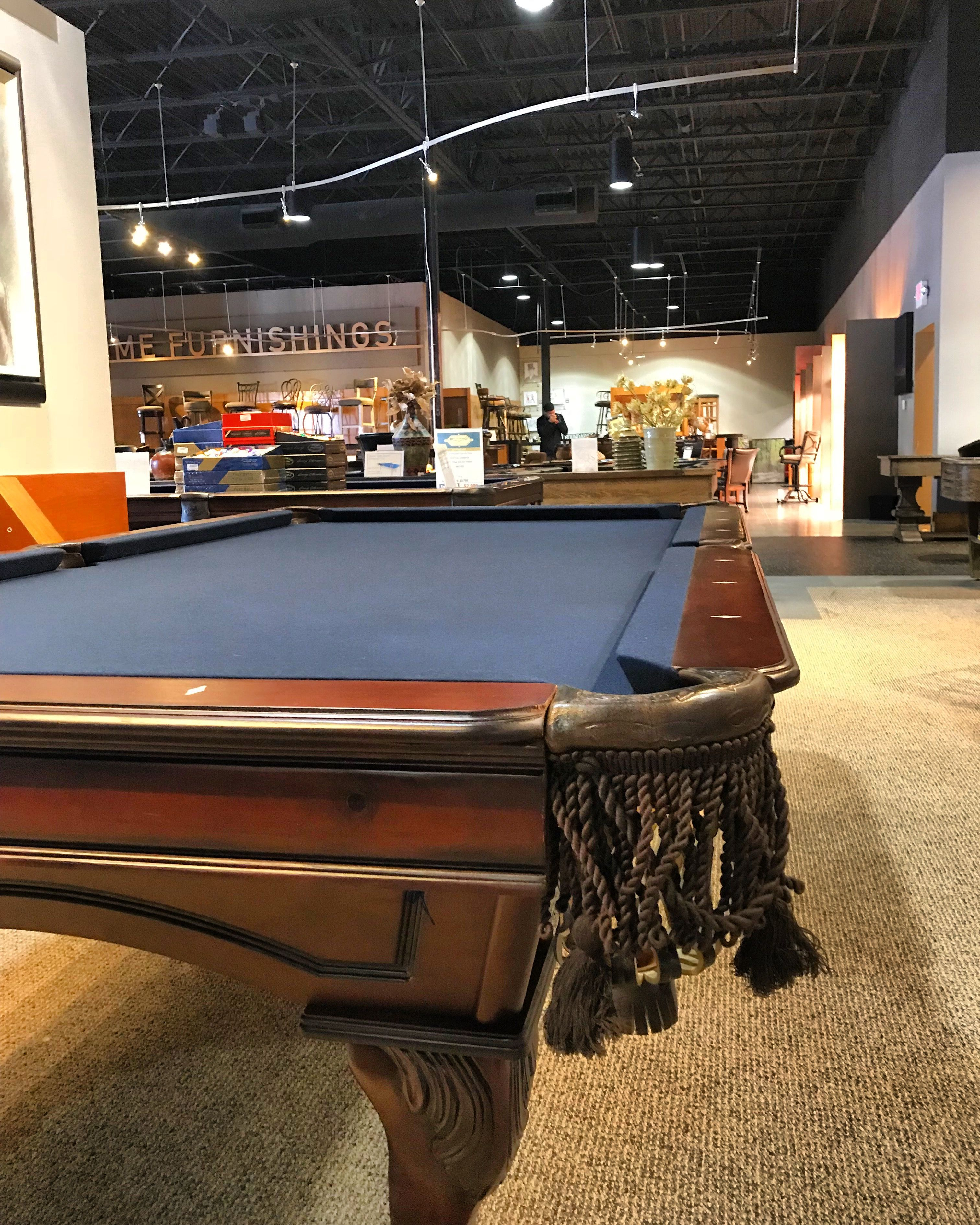 Douglas Pool Table With Customized Navy Blue Felt Pool Table Room Pool Table Felt Pool Table