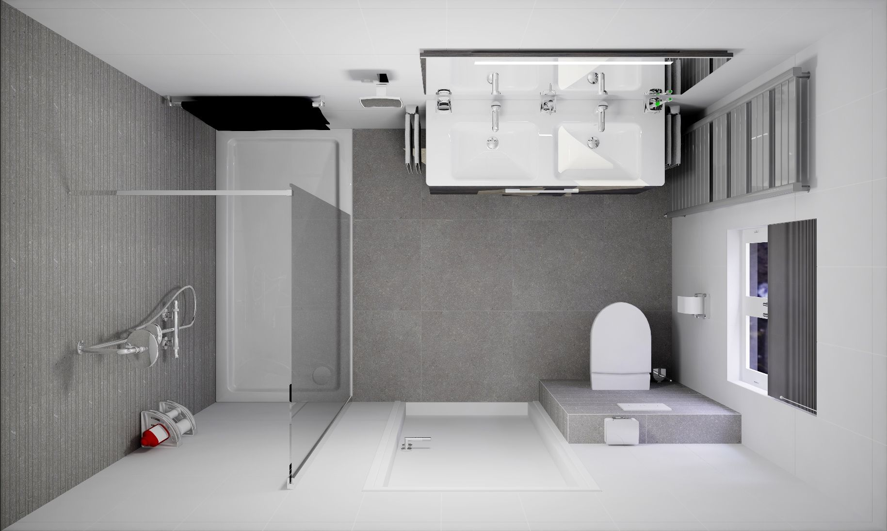 Badkamer ontwerpen van Sani-Bouw, vraag een gratis 3D ontwerp met ...