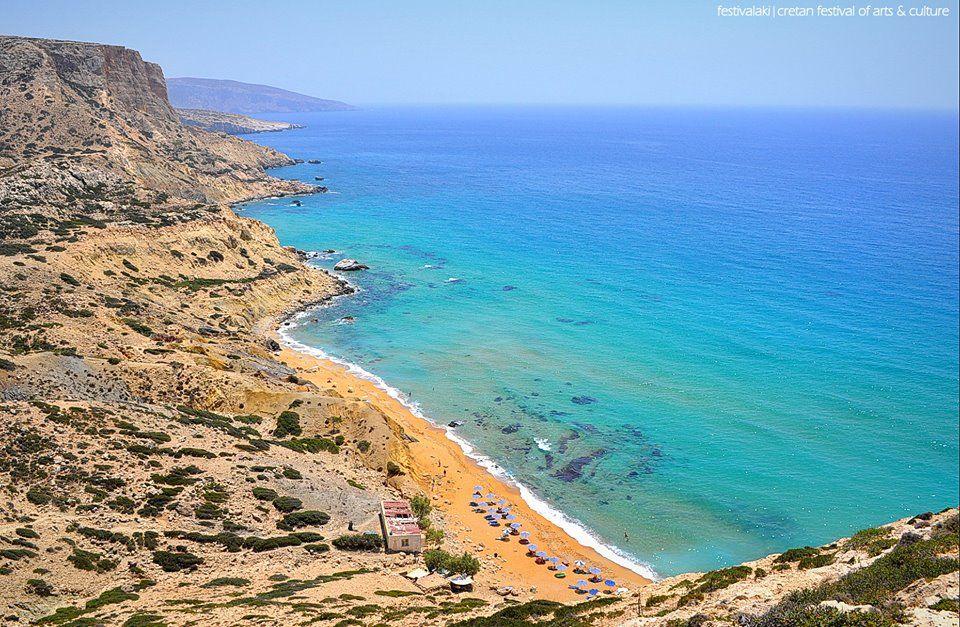 Red beach at Matala, South Crete