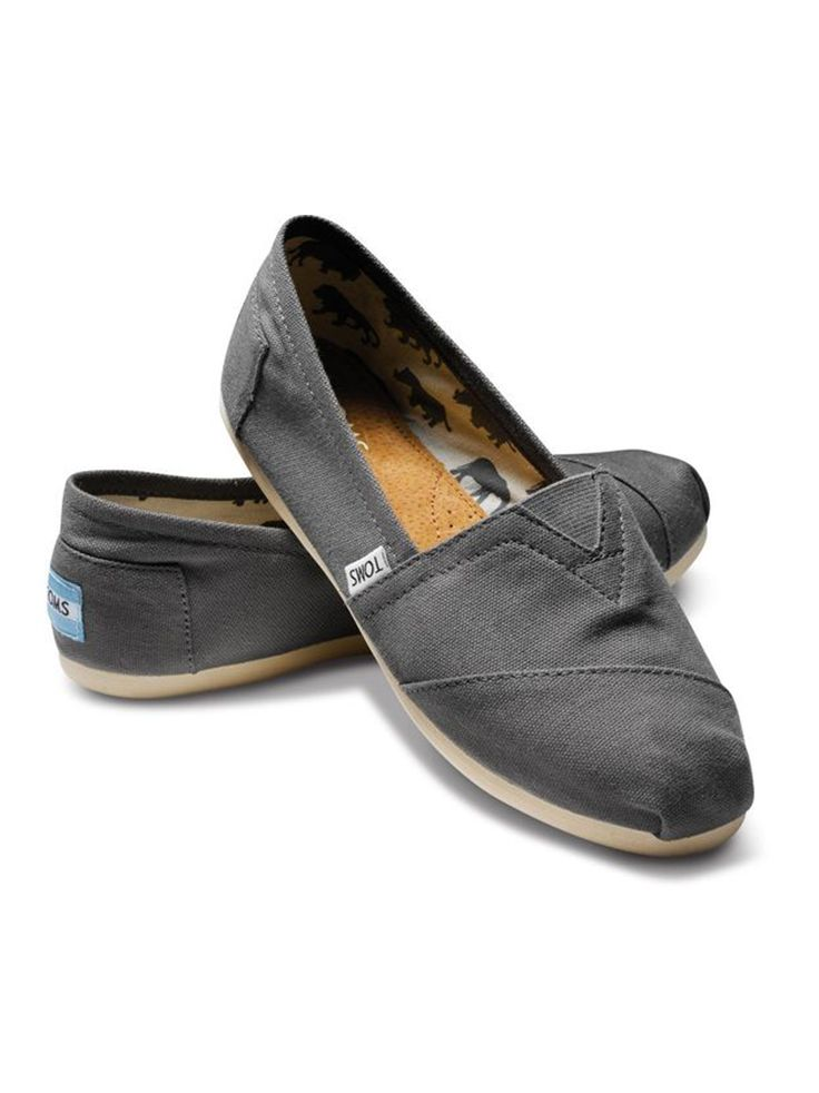 63423cc2fa1 Our go-to shoe  TOMS Classics. Shown  Ash Women s Canvas Classics