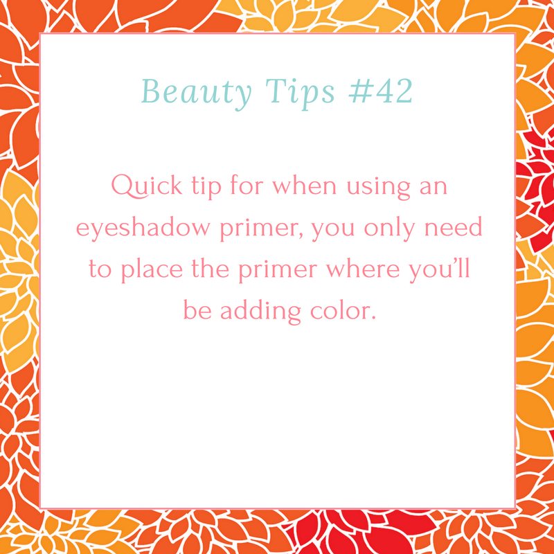 Beauty Tip #43   Might as well not waste it.