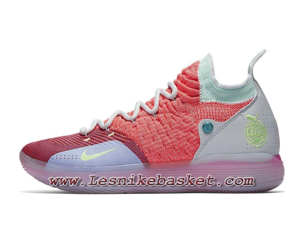 4a885e16b9a Basket Nike KD 11 EYBL Peach Jam AO2604 600 Chaussures Basket Prix Pour  Homme ROse-1808043927