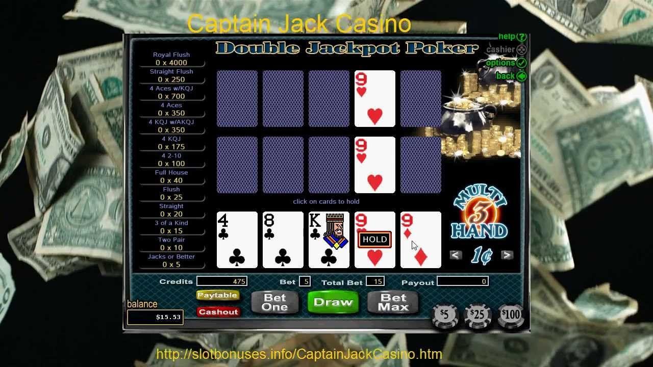 Free Double Jackpot Poker MultiHand Video Poker Captain